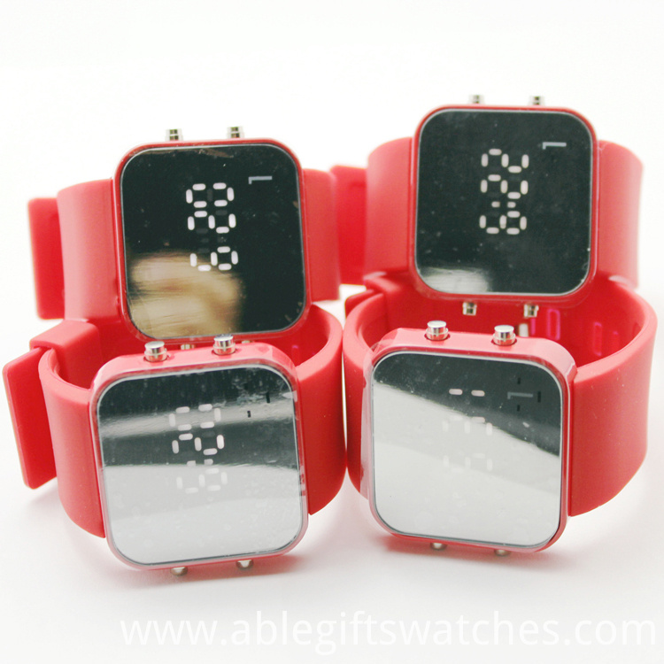 Silicone Rubber Wristband LED Watch