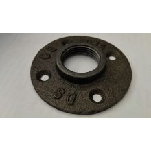 "1/2"" BS threaded iron handrail floor flange"