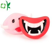Adorável silicone rosa-porco mastigar impermeável pet dog toy