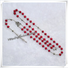 Scented Rose Wooden Bead Catholic Rosary with Crucifix (IO-cr022)