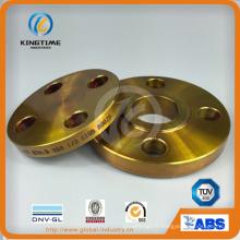 A105 Carbone acier Slip-on bride Bride forgée avec revêtement jaune (Kt0007)