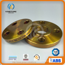 A105 Carbon Steel Slip-on Flange Forged Flange with Yellow Coating (Kt0007)