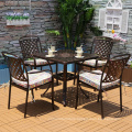 New design patio aluminum frame furniture dining sets garden chairs