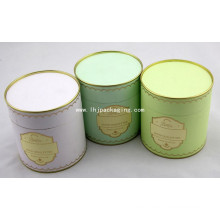 Caja de papel de embalaje redonda de alta calidad con estampación de láminas