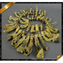 Or Druzy Beads, crocodile en forme de perles en agate, Druzy Jewelry Beads Wholesale (YAD019)