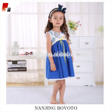 high quality blue prinet prinecess lovely dress