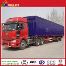 Van Box Body Truck semi remolque de carga en venta