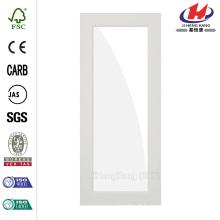 24 po x 80 po. 1-Lite Satin Etch Solid Core MDF à l'avant à droite Main simple Préhung Porte intérieure