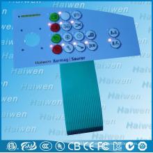 Interruptor del teclado de la membrana del LED con la bóveda del metal