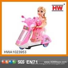 Дети BO 3D Пластиковые девушки игрушки Мини мотоцикл с музыкой и легкими (батарея не входит)