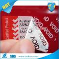 Sticker personnalisé en hologramme 3D VOID étiquette de sécurité tamper / autocollant autocollant 3D hologramme