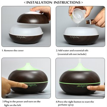 Portable Wood Ultrasonic Cool Mist Aroma Diffuser 400ml