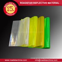 100% PVC prismático reflexivo la hoja del PVC