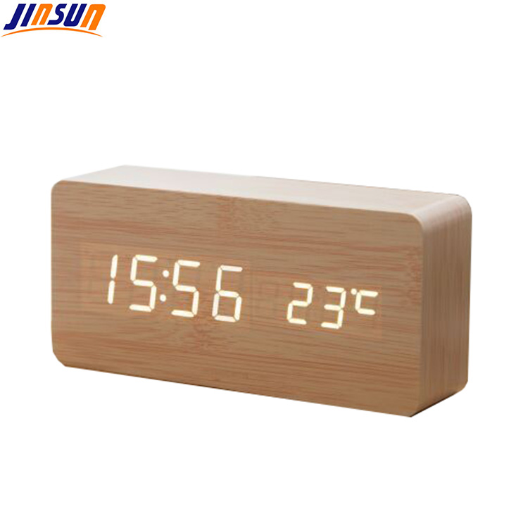 Wood Led Clock 104 1