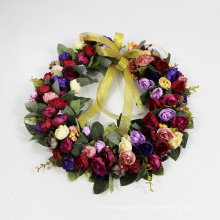 2017 neue produkt künstliche hängenden tür girlande garten rose kranz