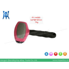 Grooming Oval Head Bristle Metal Brush