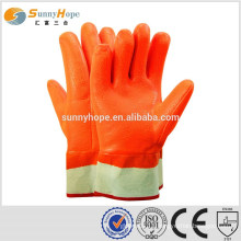 sunnyhope winter Fluorescent pvc heavy duty rubber gloves