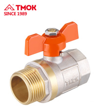 Good price brass material straight through brass ball valve