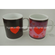 Part Color Change Mug Sublimation Mugs Wholesale, Ceramic Heat Sensitive Coffee Mugs