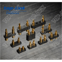2pin Custom Gold-Plated Pogo Pin Connector for SMT, PCB Connection with Heavy Current-Load, Low Contact Impedance
