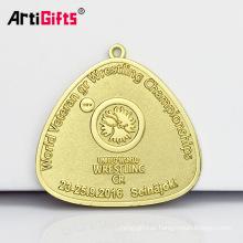 Medallas de Campeonato de lucha veterano del mundo antiguo del metal para el honor