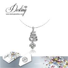 Destin bijoux cristal de Swarovski Collier pendentif en spirale