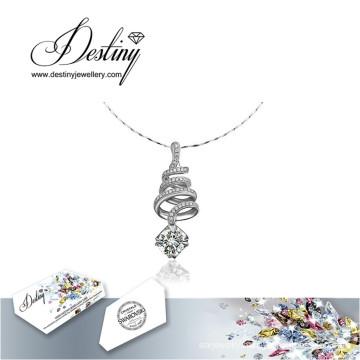 Destiny Jewellery Crystal From Swarovski Necklace Spiral Pendant
