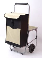 Promotion Trolley Shopping Bag with Chair (tsb-005)