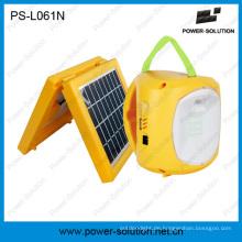 Tragbare Solarwarnungslaterne 2W mit Telefon-Ladegerät 5-in-1