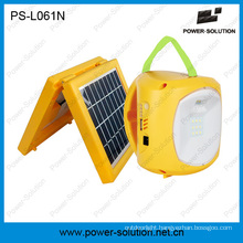 Power Solution 4500mAh/6V Solar Lantern with Phone Charger for Camping or Emergency Lighting
