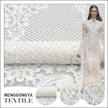 New nupcial estilo clássico branco malha cordão bordado design de renda