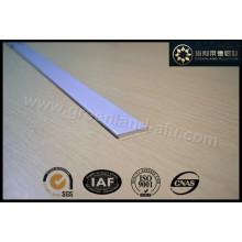 Алюминиевый профиль для римской жалюзи Нижний рельс Белый цвет Плоский 25X3mm Gl3011