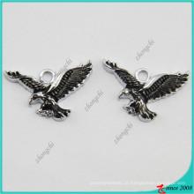 Preço barato por atacado de prata banhado águia pingentes para balanços