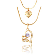 43054 Xuping Jewelry Fashion Heart Shaped Lady Necklace para regalos de cumpleaños