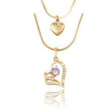 43054 Xuping ювелирные изделия мода в форме сердца ожерелье Леди подарки на день рождения