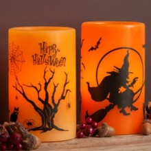 Indah Halloween dekorasi flameless LED lilin