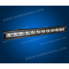 60W Single Row LED Light Bar Used on The off Road Vehicle