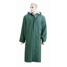 Fashion Design Waterproof Hooded PVC Poncho Rain Coat / Long Raincoat