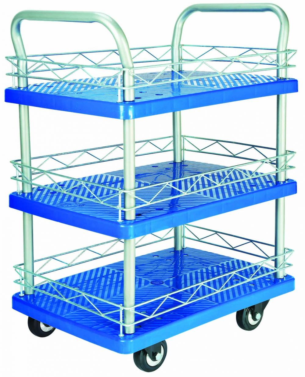 150kgs Triple Layers Platform Hand Trolley