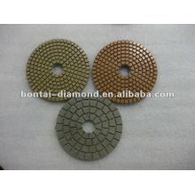 """4 """"plaquettes de polissage à angle diamant pour maçonnerie"""