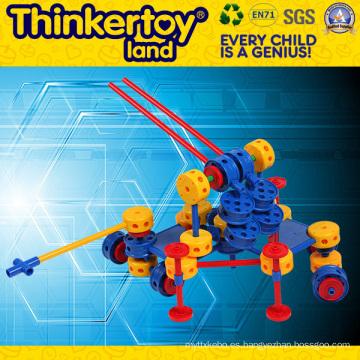 Modelo de pistola de plástico modelo de juguete bloques de construcción del niño