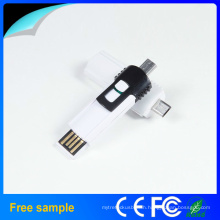 Black and White 8g Flash Drive OTG USB 3.0 Flash Disk for Smart Phone
