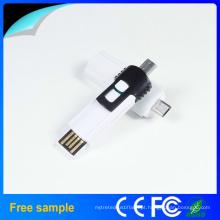 Preto e Branco 8g Flash Drive OTG USB 3.0 Disco Flash para Smart Phone