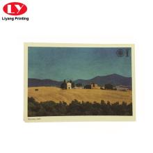 impresión de postales de paisajes personalizados con su propio logotipo