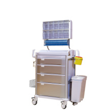 Hospital Multifunctional 4-Layer Drawer Anesthesia Trolley