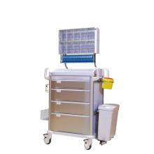 Trole multifuncional da anestesia da gaveta de 4 camadas do hospital