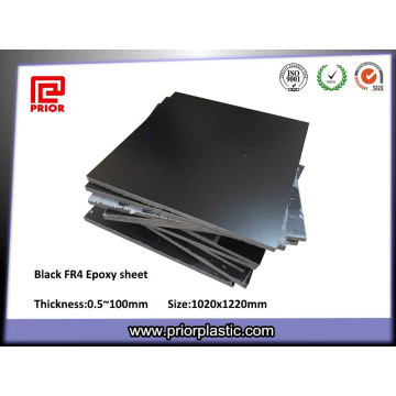 Feuille époxyde de plat de fibre de verre noire d'ESD Fr4