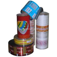 Película laminadora de plástico laminado para embalaje / embalaje de alimentos