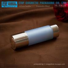ZB-RB30 30ml hot-vente classique 1oz rond rotation pompe double couches flacons airless cosmétiques acrylique en plastique
