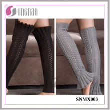 2015 Europe Bud-Shaped Leg Warmers Warm Knitting Wool Sleeves Socks
